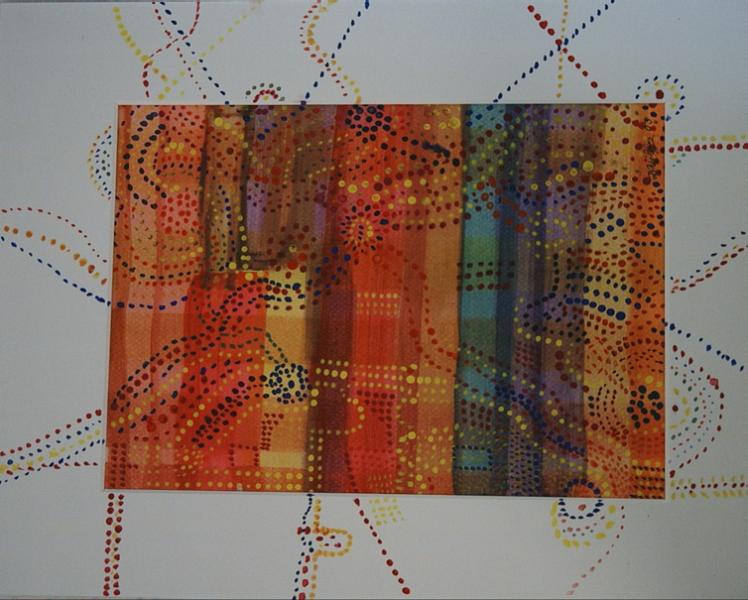 Karte der Aborigines1 39 x 29 Aquarell