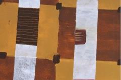 Flaschen abstrakt  40.5 cm x 39.5 cm Acryl