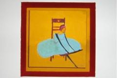 Sitzende Ballerina gross 28cm  x 28 cm Acryl