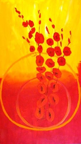 Feuerblumen 70 x 40 cm