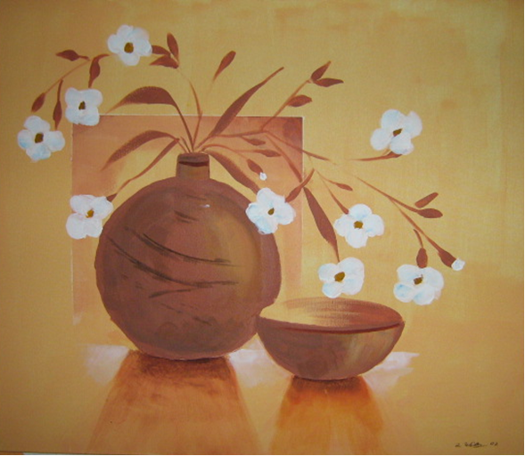 Kirschblüte 60 x 70 Acryl Verkauft