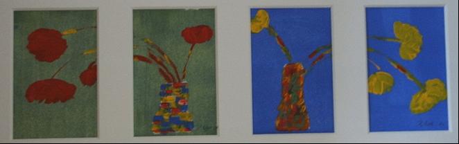 Mohnblumen 49  x 15  Acryl
