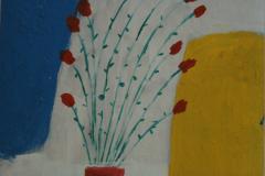 Tulpen in der Vase 29 cm x 29 cm Acryl
