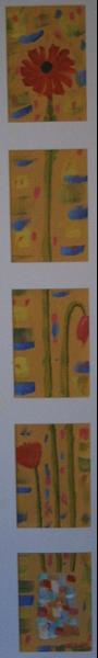Gerbera Mohn 84  x 9  Acryl