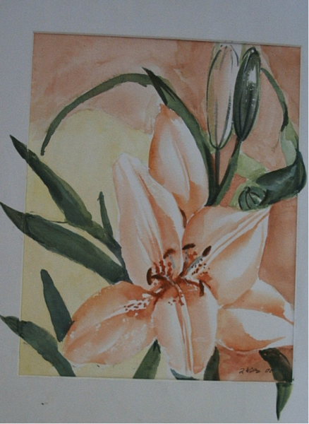 Orchidee 48  x 38 Aquarell