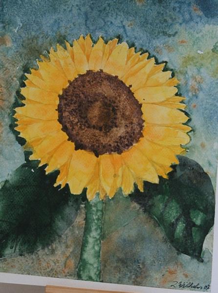 Sonnenblume in Salz 24 x 32 Aquarell