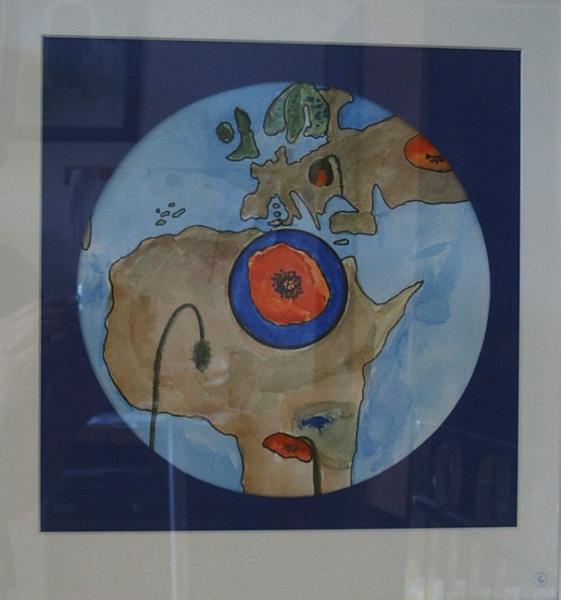 Welt Mohnblumen 31  x 31  Aquarell