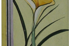 Calla in gelb 27  x 19  Aquarell