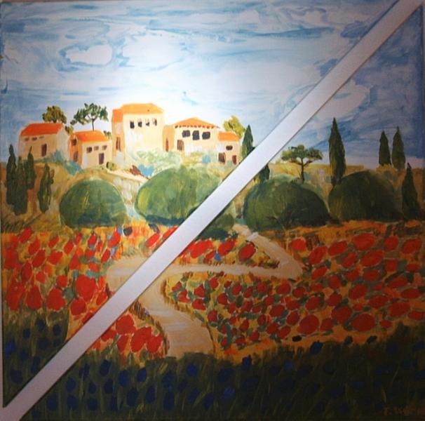 Toscana 73 x 73 Acryl
