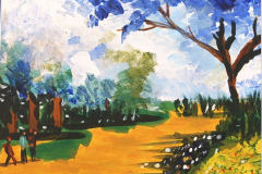 Herbstwanderung 27.5 cm x 34.5 cm Acryl