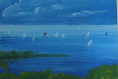 Segeln auf dem See 45 x 35 Acryl