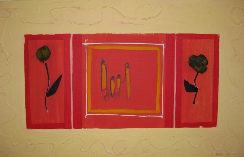 Afrikanischerose 80 x 50 acryl