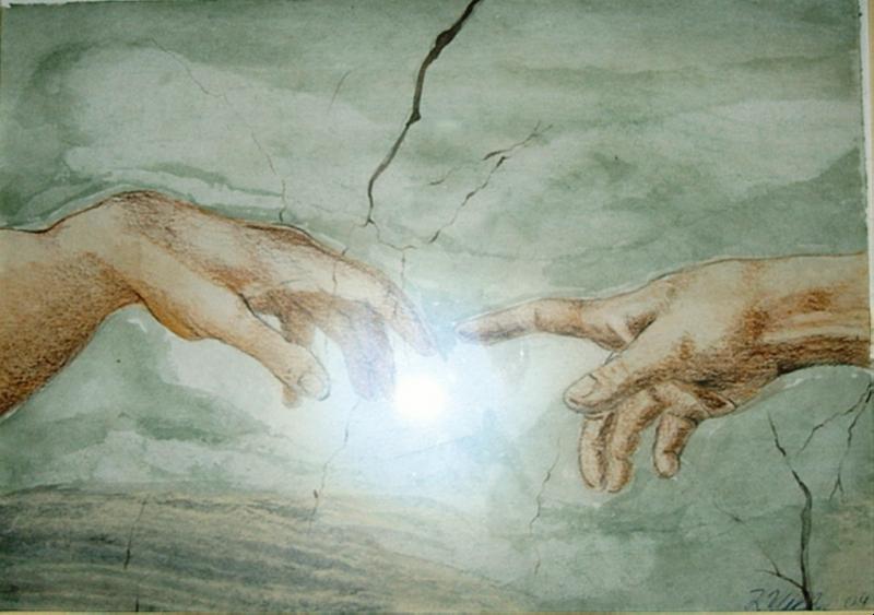 Hände 20  x 29 Aquarell