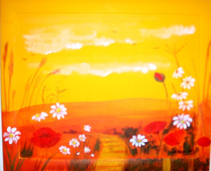 Sommerwiese 48 x 58  Acryl
