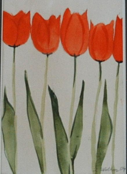 Tulpen Triologie 2 14 x 20 Aquarell
