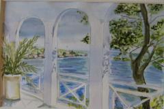 Meeresblick 28  x 22 Aquarell Verkauft